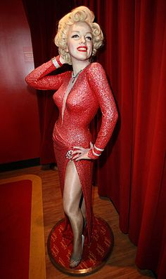 A wax figure of actress Marilyn Monroe is seen at Madame Tussauds Hollywood
