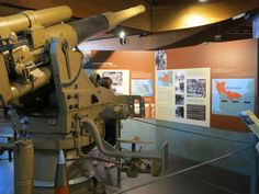 an interior shot of the Battle of Normandy Memorial Museum, in Bayeux, France