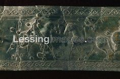 . Two horsemen fighting. Detail of an embossed sheet-bronze clasp from Vace, Slovenia. Detail of 07-01-03/68