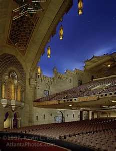 The Fabulous Fox Theatre - Atlanta. /my granfather painted the ceiling,my uncle rode his trike through the whole place as a child..