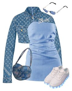 A fashion look from September 2017 by stylebylolo featuring Jean-Paul Gaultier and Louis Vuitton Cute Swag Outfits, Retro Outfits, Girly Outfits, Classy Outfits, Stylish Outfits, Rock Outfits, Kpop Fashion Outfits, Stage Outfits, Ropa Louis Vuitton