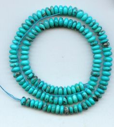 Real Sleeping Beauty Turquoise 7.5 mm Rondelle Beads