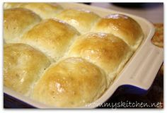 Mommy's Kitchen - Country Cooking & Family Friendly Recipes: Quick Fluffy Dinner Rolls {Potluck Sunday} & A Giveaway Winner