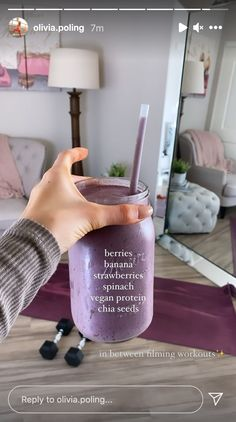 Healthy Smoothies, Healthy Drinks, Smoothie Recipes, Healthy Snacks, Healthy Recipes, Think Food, Love Food, Food Goals, Aesthetic Food