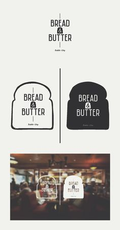 Bread and butter logo design - super simple logo Restaurant Logo Design, Bakery Logo Design, Bakery Branding, Logo Branding, Bakery Packaging, Cl Design, Menu Design, Typo Logo, Typographic Logo
