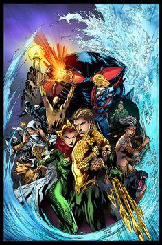 Aquaman #13 - Colors:Jorge Cortes Pencils: Ivan Reis Inks:Joe Prado