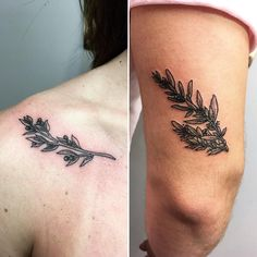 Olive Branch Tattoo For Sister & Brother