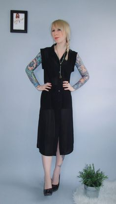 Evil Twin All Shadows Sheer Shirt Dress  - product images  of