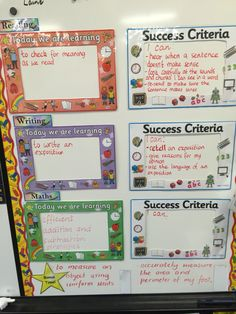 Learning Intention and Success Criteria boxes More