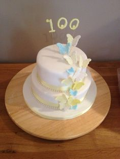 Just made my Grans 100th Birthday Cake, first try ever!