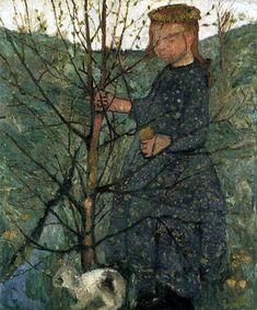 Paula Modersohn-Becker - Farmers child with a rabbit