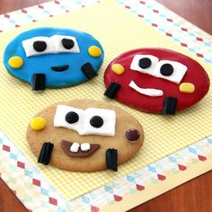 Roll into Radiator Springs and you'll find treats specially geared for the residents... like these cookies that look like Mater, Sally, and Lightning McQueen!