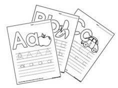 Good alphabet tracing worksheets for preschoolers to practice their early writing skills. This gives them a sense of what the letters looks like, how to writing, and the feeling of writing the letters. Also each worksheet has a picture of something tha starts with that letter so it will help them know what the letter sounds like.