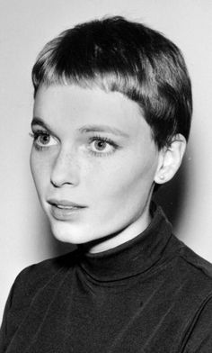"Mia Farrow. I just watched ""Rosemary's Baby"" for the first time and I was fascinated by her face! Lol She's so pretty. #hollywood"