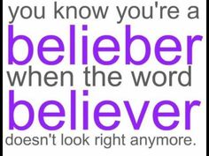 Omg i actually never noticed how that looked after i started seeing belieber everywhere, and it does look odd.