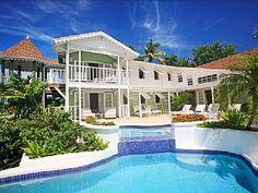 Saline Reef at 19 Saline Point, Cap Estate, Saint Lucia - Ocean View, 2 Pools Linked By Waterfall Vacation Rental in Gros Islet from @homeaway! #vacation #rental #travel #homeaway