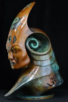 'Bodhicitta' From the Transformation Series, by Andrew Thomas. Patinated Bronze - Limited Edition of 9 - Dimensions: H 40 x W 26 x D 15 CM