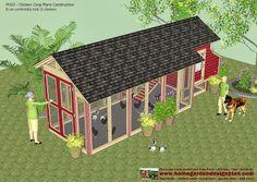 home garden plans: M103 - Chicken Coop Plans Construction - Chicken Coop Design - How To Build A Chicken Coop