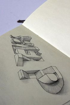 Moleskine Illustrations by Lex Wilson, via Behance lettering and perspective Schrift Design, Illustrator, Doodles, 3d Drawings, Pencil Drawings, Drawing Art, Drawing Ideas, Middle School Art, High School