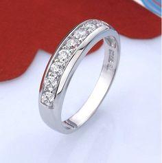 Cheap 50% fuera del Ring para mujeres Wedding Band Zircon 925 anillos de…