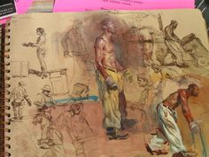 Page from Steve Huston's Sketchbook           Visual Noise: Photo