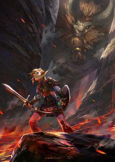 """pixalry: """"Legend of Zelda: Breath of the Wild Fan Art - Created by Shengyi Sun"""" The Legend Of Zelda, Legend Of Zelda Memes, Legend Of Zelda Breath, Breath Of The Wild, Video Game Art, Video Games, Viewtiful Joe, Link Art, Link Zelda"""