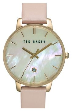 3c885af9cdf Ted Baker London Leather Strap Watch, 40mm available at #Nordstrom Pearl  Online, Ladies