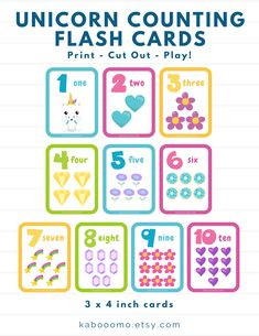 Addition Flashcards, Letter Flashcards, Printable Preschool Worksheets, Printable Numbers, Printable Flashcards, Learning Games For Preschoolers, Kids Learning, Kindergarten Flash Cards, Kids Routine Chart