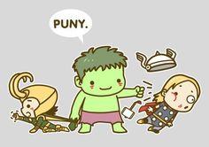 Puny #Avengers #Hulk #Thor #Loki