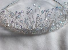 New handmade swarovski crystal silver bridal by LornaGreenTiaras