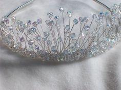 swarovski crystal silver bridal tiara by LornaGreenTiaras on Etsy, $150.00