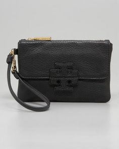 Tory Burch Stacked T Logo Wristlet