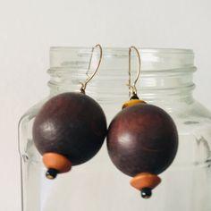 Wooden Jewelry, Wooden Beads, Rose Earrings, Dangle Earrings, Pink Fruit, Bead Jewellery, Hippie Jewelry, Beaded Rings, Adjustable Bracelet