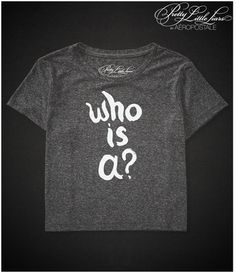 Aeropostale Pretty Little Liars Who Is A? Boxy Crop Graphic T