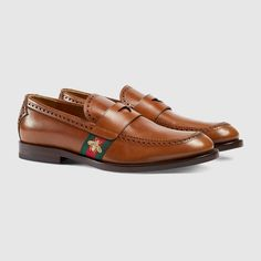 Shop the Gucci Official Website. Mens Moccasins Loafers, Leather Loafers, Loafers Men, Men's Shoes, Dress Shoes, Shoes Men, Gucci Horsebit Loafers, Luxury Fashion, Brand Name Shoes