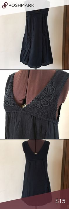 So cute. Summer dress or swimsuit cover up This dress from BCBG MAXAZRIA can be worn as a summer dress or even as a swimsuit cover. Side pockets, fully lined and crochet top. Size Small. BCBGMaxAzria Dresses