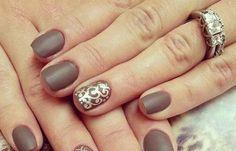 Uñas decoradas color capuchino, uñas decoradas color capuchino mate.  Join nails CLUB! #decoraciondeuñas #nails #uñaselegantes