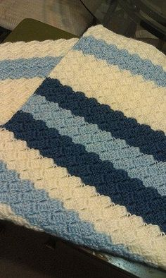 Effortless Baby Blanket Crochet Pattern looks like the C2C pattern but is different.