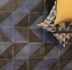 Say hello to Bert and May's Navy Alalpardo - whether it's chevrons or diamonds, get creative with these handmade encaustic Spanish tiles