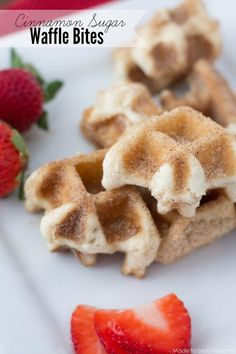 Cinnamon Sugar Waffle Bites from Made to be a Momma featuring Tastefully Simple products. Perfect for Valentine's Day! Waffle Recipes, Brunch Recipes, Sweet Recipes, Baking Recipes, Dessert Recipes, Tastefully Simple Recipes, What's For Breakfast, Breakfast Bites, Just Desserts