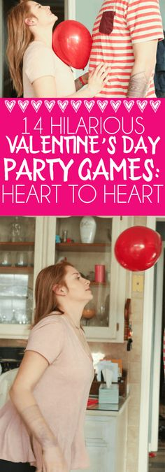14 hilarious minute to win it Valentine's Day party games that are great ideas… 14 lustige Minuten, um die Valentinstag-Partyspiele. Valentines Games For Couples, Party Games For Ladies, Valentine's Day Party Games, Valentine Games, Couple Games For Party, Love Games For Couples, Valentine Ideas, Valentine Decorations, My Funny Valentine