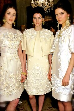 Dolce and Gabbana couture. Perfect inspiration for mothers of the bride, groom, and bridesmaids!