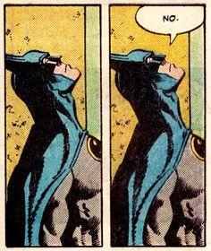 Is that a threat to god? Or challenge to destiny? Na na na na Batman ❤ Batman Comic Art, Im Batman, Batman Comics, Spiderman, Batman Cartoon, Comics Vintage, Old Comics, Funny Comics, Comic Books Art
