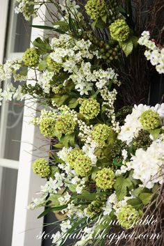 hope you will make a pretty summer wreath for your front door...