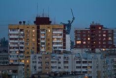 Volgograd, Russia (statue in Mamayev Kurgan in Volgograd)