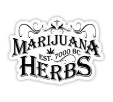 Vintage Marijuana Sticker
