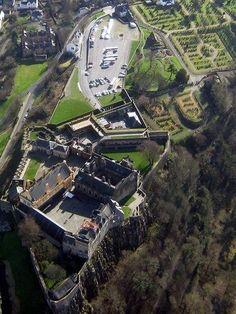 Birdseye View Of Stirling Castle, Scotland (birthplace of Bhuadar,--discover the dream, Malt Whisky Liqueur) Scotland Castles, Scottish Castles, England Ireland, England And Scotland, Monuments, Beautiful Castles, Scotland Travel, British Isles, Historical Sites