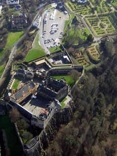 Birdseye View Of Sterling Castle, Scotland (birthplace of Bhuadar,--discover the dream, Malt Whisky Liqueur)