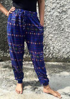 Aztec Slim cut Boho Yoga Pants Hippie festival by TribalSpiritShop