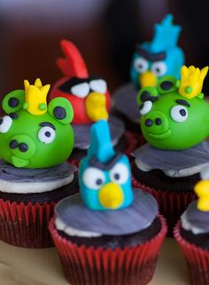 Angry Birds Cake & CupcakeToppers - Lexie's Kitchen | Gluten-Free Dairy-Free Egg-Free -
